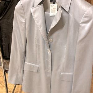 Zanella Silver suit. Never worn. Slacks and Jacket